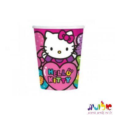 כוס ממותגת קיטי 5 יח' 10 שקלים  | חנות מקוונת ALONIT